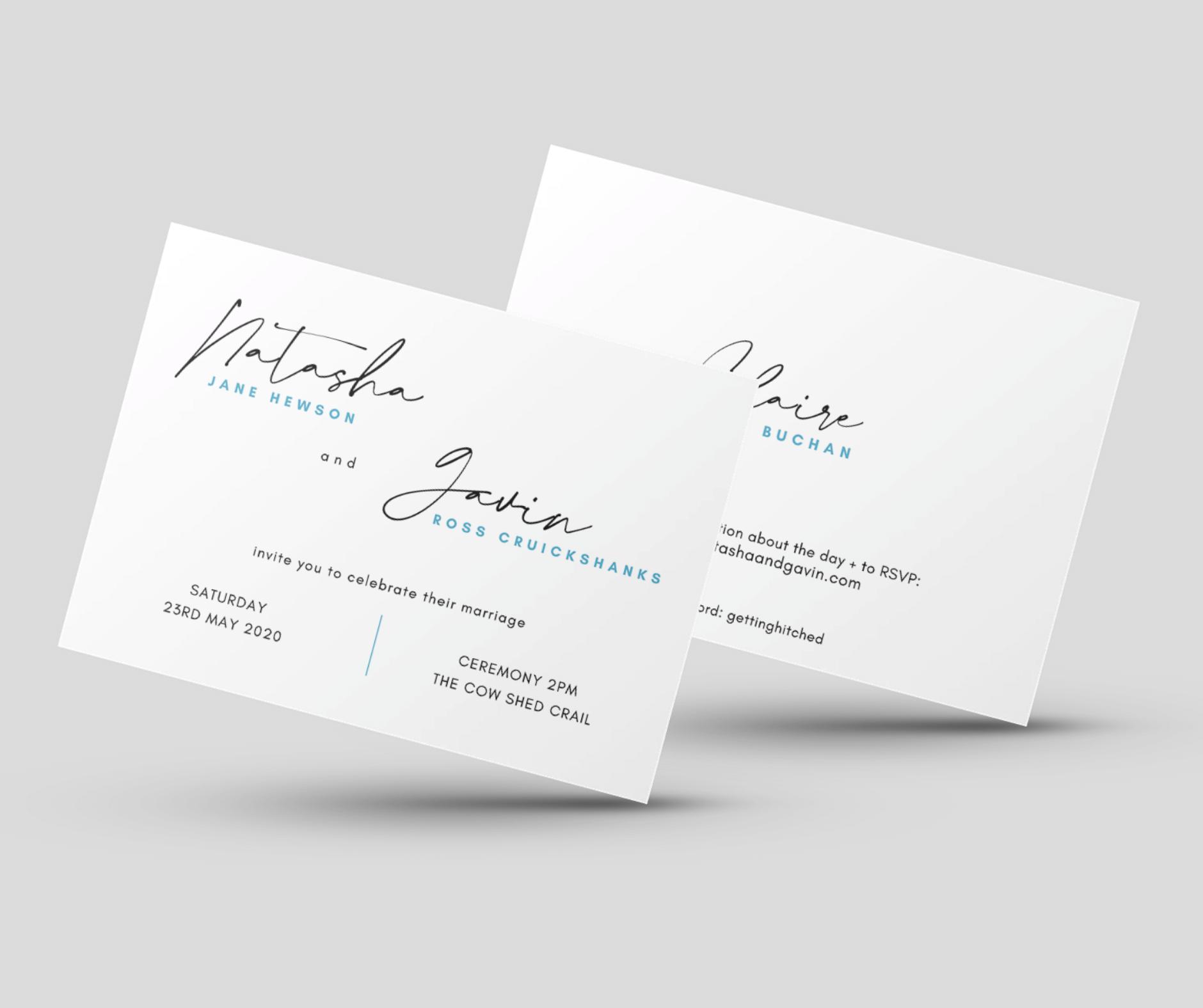 Design & Write wedding invitation